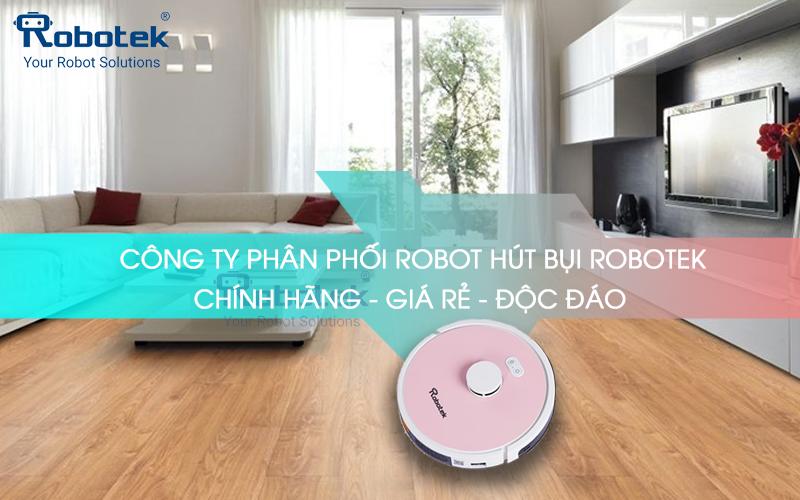 Robot hút bụi tự động, hút bụi thông minh chính hãng Robotek